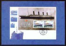Modern Postcard Depicting Titanic FDC (Ref: M Tanner, ref # 2). Free UK Postage