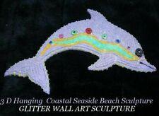 3D Coastal Seaside Beach Sculpture Decor Hanging Glitter WALL ART SCULPTURE