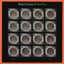 US Total Eclipse of the Sun Stamp, a Full pane of 16 Stamps MNH ~ 2017