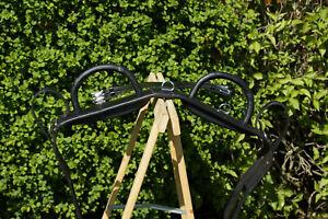 Neuer Voltigiergurt Full mit zwei Haltegriffen Leder schwarz 170 - 210cm