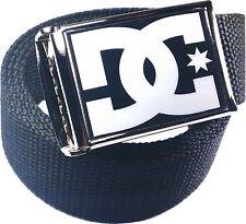 DC Black White Belt Buckle Bottle Opener Adjustable Web Belt