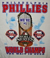 Mens Vintage BNWOT MLB PHILADELPHIA PHILLIES 2008 World Series T Shirt size XL