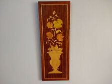 Wood Wall Hanging Panel Flowers Floral Room Decor