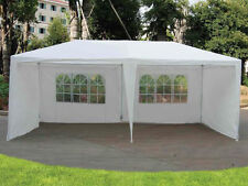 3M X 6M GARDEN GAZEBO TENT MARQUEE OUTDOOR WATERPROOF PARTY AWNING CANOPY WHITE