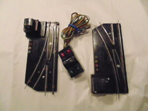 American Flyer Remote Switches with Controller, S Gauge