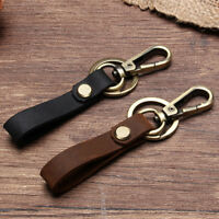1PC Leather Belt Keychain Key Ring Holder Key Fob Buckle Clip Loop Keyring