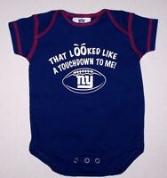 b042569f169 Nwot New York Giants ny Football Logo Bodysuit Romper Top Shirt Snaps Cute  Baby
