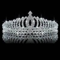 Gorgeous Full Crystal Wedding Bridal Princess Hair Accessory Tiara Crown Charm