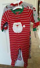 Boy's Christmas Blanket Sleepers Pack of 2 PJS Carter's 12 Months Santa Infant