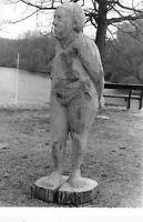 Skulptur Holz 200 cm groß Frau Figur Kunst UNIKAT gesägt
