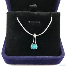 925 Sterling Silver Natural Australian Opal Necklace Pendant, Jewelry, CZs