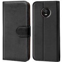 Handy Hülle Motorola Moto G6 Plus Case Schutz Tasche Cover Wallet Flip Bookcase