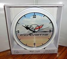 "CHEVROLET CORVETTE WALL CLOCK. 9"" DIA. GENERAL MOTORS....FREE SHIPPING"