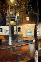 Evening Street Still Life home decor oil painting 8 x 12 inch