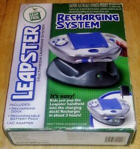 Leap Frog Leapster Recharging System Recharging Dock Battery Pack AC Adapter NEW