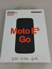 Verizon Prepaid - Factory sealed Motorola Moto E5 go - Black