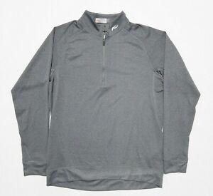 KJUS Men's Medium/50 Heather Gray Keano Halfzip Wicking Golf Jacket