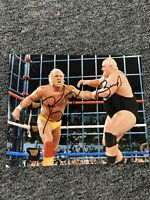 King Kong Bundy Signed 8x10 With Hulk Hogan