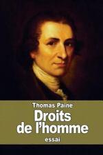 Droits de L'homme by Thomas Paine (2015, Paperback)