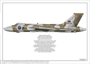 Avro Vulcan B2 XH558 limited edition art print - numbered and signed by artist