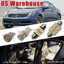 11-pc Luxury White LED Light Interior Package Kit For 03-06 Infiniti G35 Sedan