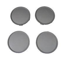 4 Ps Set Universal Wheel Rims Center Centre Hub Caps 65/68 mm. Plastic Gray New