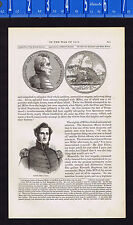 War of 1812 Medallion: Col. James Miller at the Battle of Chippewa-1869 Woodcut