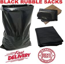 More details for heavy duty black rubble builders refuse tough waste sacks bags liners