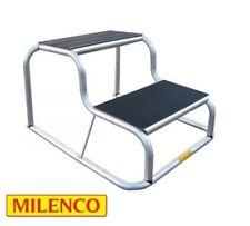 GENUINE Milenco Aluminium Rubber Top Double Step Non Slip Caravan/Motorhome