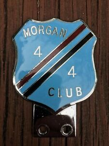 Morgan 4 / 4 Club Enamel Grill Badge 1960s Made In England