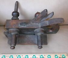RARE OLD  Screw Arm Wood Brass Plow Fillister Plane Tool Plough CBD