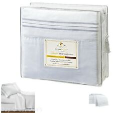 4 Pc Premier Bed Sheet Set King Size White 1800 Series Brushed Microfiber New