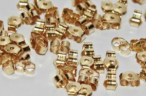 9ct Gold Butterfly Earring Backs Scrolls Push Fit .375 (4.5mm x 3.5mm) 1 x Pair