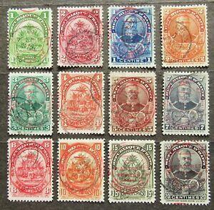 Haiti 1906 Definitives, ovpt, Mi #89-03i used incomplete set