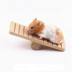 Wooden Mouse Funny Gym Exercise Pet supplies Seesaw Hamster Toys Hideout