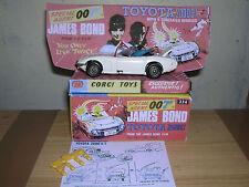 CORGI 336 JAMES BOND TOYOTA & BOX - SUPERB!