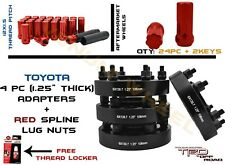 "FULL SET OF TACOMA 1.25 "" HUBCENTRIC WHEEL ADAPTERS 106MM + 24PC 12X1.5 LUG NUTS"