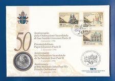 El papa juan pablo ii. ** numisbrief 50. sacerdotes aniversario Juan Pablo II.