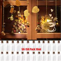 50pcs Mini Small Wish Jars Glass Bottles with Cork Stopper Vials Tiny Containers
