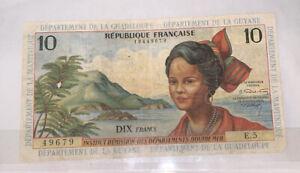 Billet 10 Francs, Département De La Guadeloupe Département De La Guyane