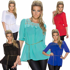 Tunic, Kaftan Polyester 3/4 Sleeve Tops & Shirts for Women
