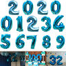"40"" Blue Giant Foil Number 0-9 Balloons Helium Large Baloons Birthday Party DIY"
