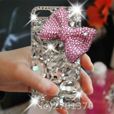 Handmade Bling Luxury Glitter Diamonds bowknot Soft back Phone Cover Cases Skin