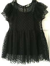 Girls Black Lace Top 8 Years