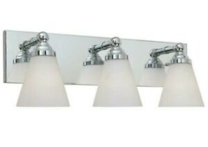 Designers Fountain Hudson 3-Light Chrome Vanity Light 6493-CH