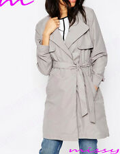 Women's CANVAS MAC Size 8 10 12 14 16 Ladies TRENCH JACKET COAT camel and grey