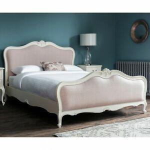 Frank Hudson Gallery Direct Chic Chalk Upholstered King Size Bedstead  - 5ft Bed