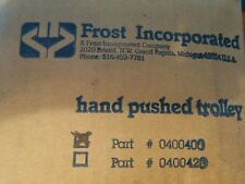 0400400 FROST INC. HAND PUSHED TROLLEY