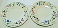"2 FARBERWARE English Garden 6 1/4"" Salad/Bread/Dessert Stoneware Plates Floral"