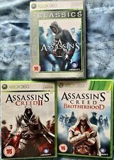 ASSASSIN'S CREED XBOX 360 3 GAME BUNDLE. 1, 2, & BROTHERHOOD. Manuals Included.